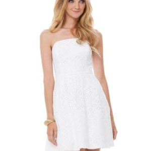Lily pulitzer caitlin strapless white dress
